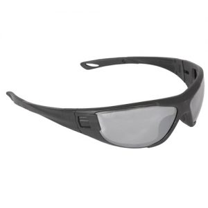 Radians CT1-61 Cuatro™ 4-in-1 Foam Lined Safety Glasses, CT1-61 Silver Mirror Lens
