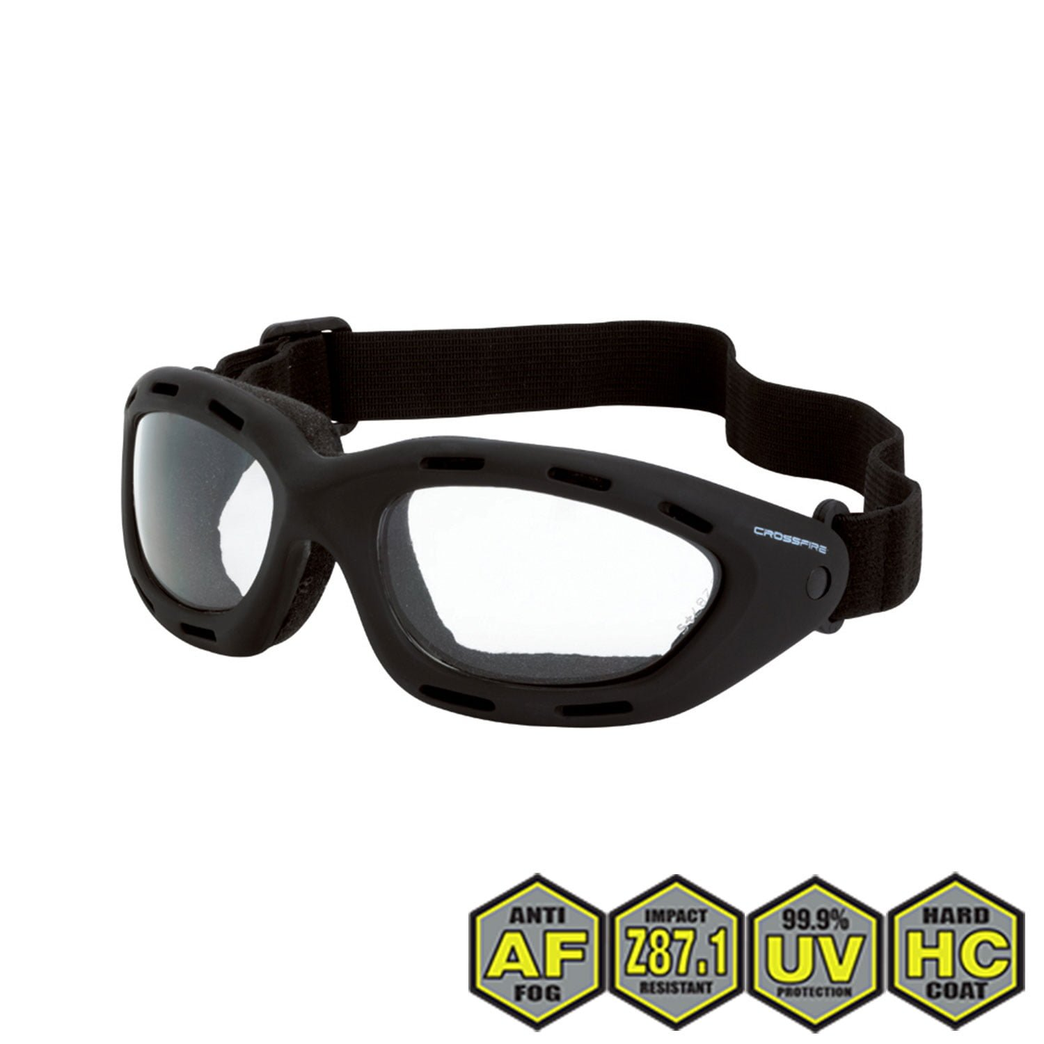 f9ef247387fe7 Radians Crossfire Element Foamed Lined Safety Goggles
