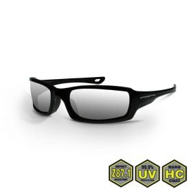 Radians Crossfire M6A Safety Sun Glasses, 2063 Silver mirror lens, pearl black frame
