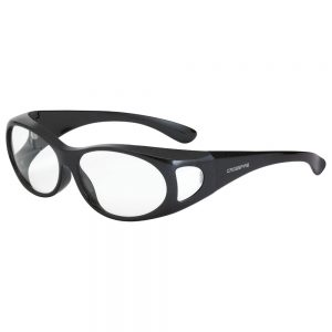 Radians Crossfire OG3 Over the Glass Safety Glasses, 3111 Clear lens, shiny pearl gray frame