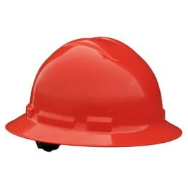 Radians Quartz™ Full Brim Hard Hats w/ Pinlock or Ratchet Suspension, QHR4 Red