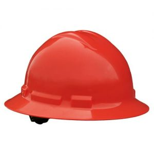 Radians Quartz™ Full Brim Hard Hats w/ Pinlock or Ratchet Suspension, QHR4 Red