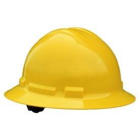 Radians Quartz™ Full Brim Hard Hats w/ Pinlock or Ratchet Suspension, QHR4 Yellow