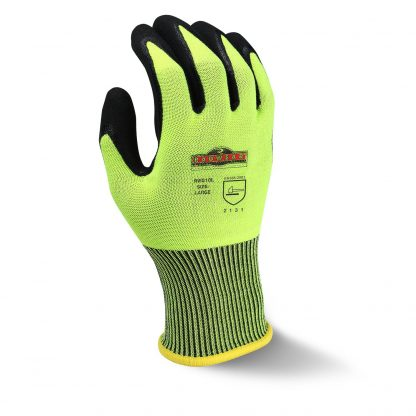 Radians RWG10 Radwear Silver Series Hi-Viz Knit Dip Work Glove, Back