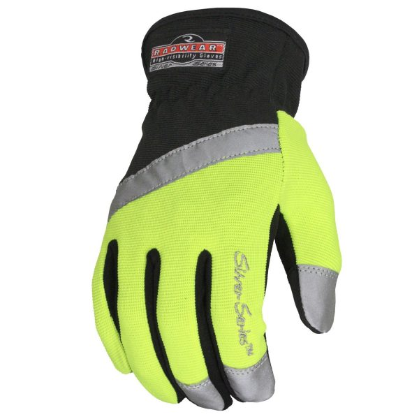 Radians RWG100 Radwear Silver Series All Purpose Synthetic Hi-Viz Utility Glove, Back