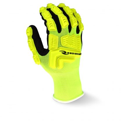 Radians RWL High Visibility Work Glove with Thermal Plastic Rubber Reinforced Knuckles, Back