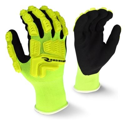 Radians RWL High Visibility Work Glove with Thermal Plastic Rubber Reinforced Knuckles, Main
