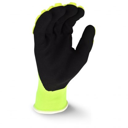 Radians RWL High Visibility Work Glove with Thermal Plastic Rubber Reinforced Knuckles, Palm