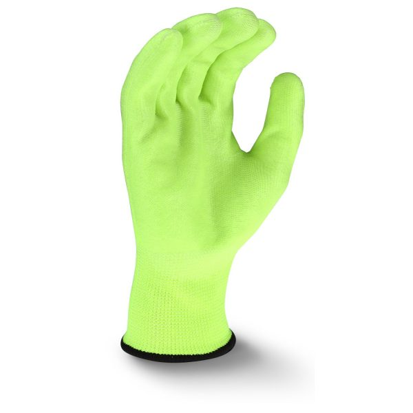 Radians RWG22 High Visibility PU Polyester Work Glove, Palm