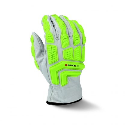 Radians RWG50 Cut Resistant Work Gloves, Cut Protection Level A4 with TPR Knuckle Protection, Back