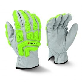 Radians RWG50 Cut Resistant Work Gloves, Cut Protection Level A4 with TPR Knuckle Protection, Both