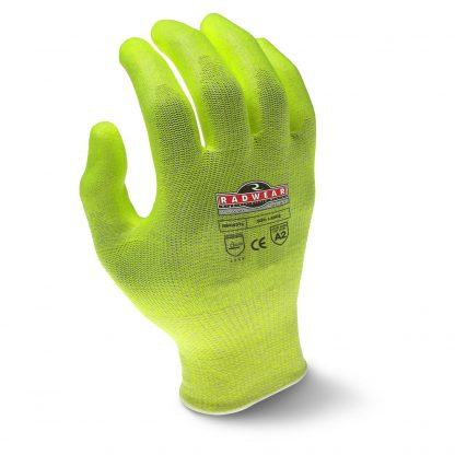 Radians RWG531 Level 2 Cut Resistant Hi-Viz Work Gloves, Back