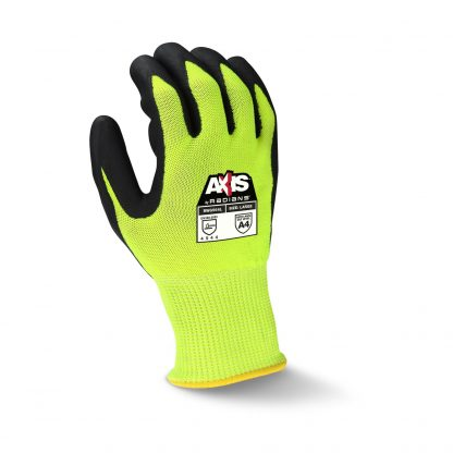 Radians RWG564 Cut Level A4 AXIS™ High Visibility Nitrile Dipped Gloves, Back