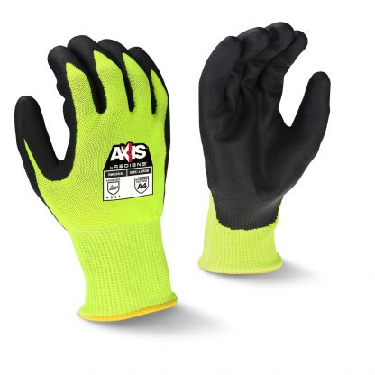 Radians RWG564 Cut Level A4 AXIS™ High Visibility Nitrile Dipped Gloves, Main