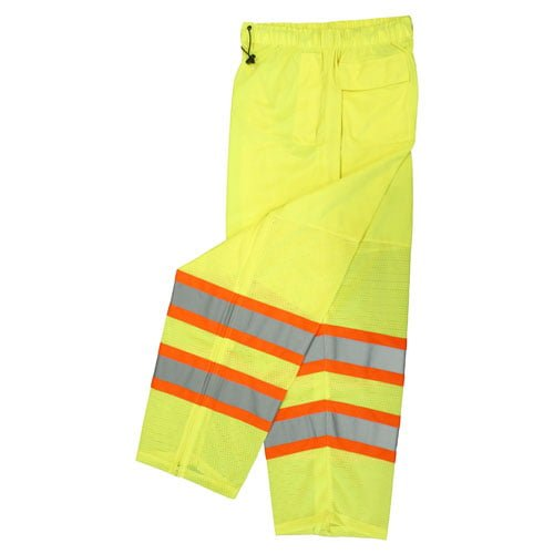 Radians SP61 Class E High Visibility Safety Pants, Mesh Green