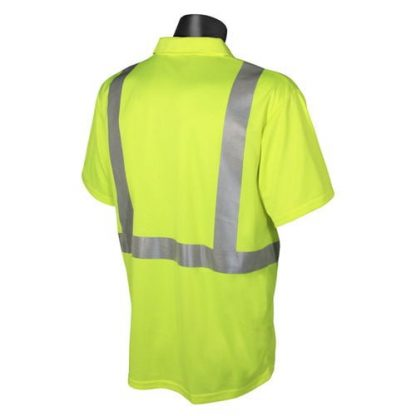 Radians ST12 Class 2 High Visibility Safety Shirt, Green Back