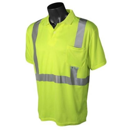 Radians ST12 Class 2 High Visibility Safety Shirt, Green Front