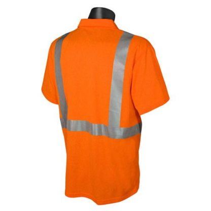 Radians ST12 Class 2 High Visibility Safety Shirt, Orange Back