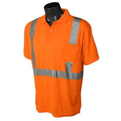 Radians ST12 Class 2 High Visibility Safety Shirt, Orange Front