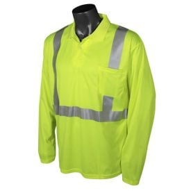 Radians ST22-2 Class 2 High Visibility Safety Polo, Green Front