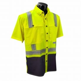 Radians SV11 ANSI Class 2 High Visiiblity Ripstop Wind Safety Shirt, Front