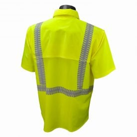 Radians SV11 ANSI Class 2 High Visiiblity Ripstop Wind Safety Shirt, Back