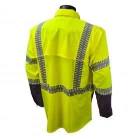 Radians SW21 ANSI Class 3 High Visiblity Ripstop Stretch Safety Shirt, Back