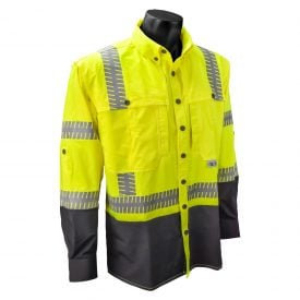 Radians SW21 ANSI Class 3 High Visiblity Ripstop Stretch Safety Shirt, Front