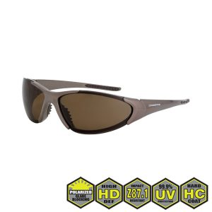Radians Crossfire 181813 HD Brown Safety Glasses, Mocha Brown Frame