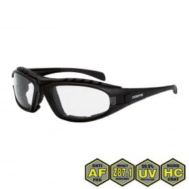 Radians Diamond Back Foam Lined Safety Glasses, 2724 AF Clear AF, matte black frame, foam lined