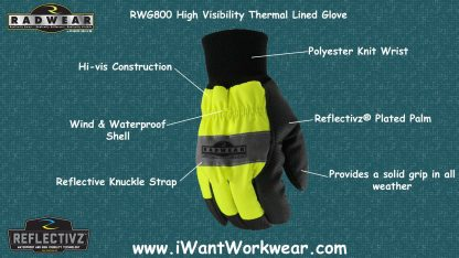 Radians RWG800 High Visibility Thermal Lined Glove