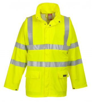 PORTWEST LTD FR41 SEALTEX FLAME HIGH VISIBILITY FLAME RETARDANT MEN'S JACKET, ONBODY FRONT