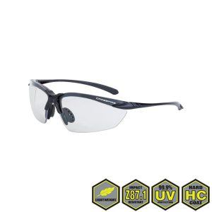 Radians Crossfire Sniper Safety Glasses, 9215 indoor/outdoor lens, shiny pearl gray frame