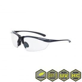 Radians Crossfire Sniper Safety Glasses, 924 clear lens, matte black frame