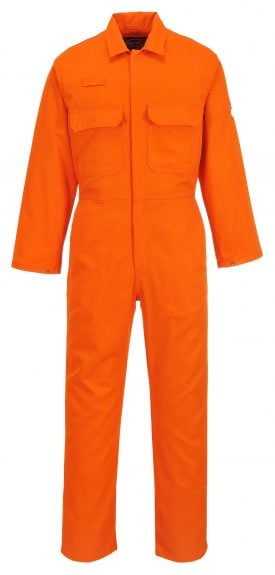 Portwest Bizweld Flame Retardant Coverall, UBIZ1, Orange, Front,
