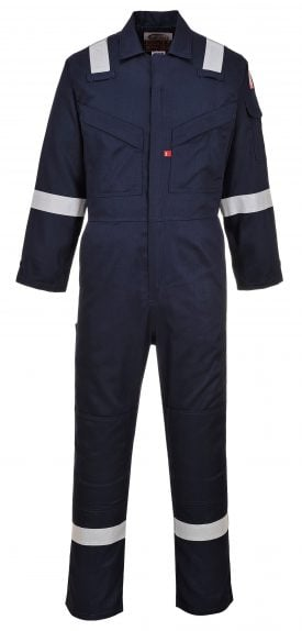 Portwest LTD SUPER LIGHT WEIGHT FR ANTI-STATIC COVERALL - UFR21 - Navy Blue