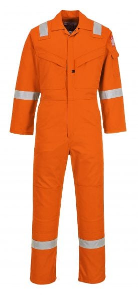 Portwest LTD SUPER LIGHT WEIGHT FR ANTI-STATIC COVERALL - UFR21 - Orange