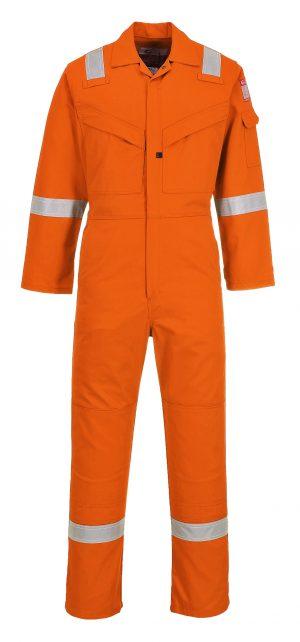 Portwest LTD SUPER LIGHT WEIGHT FR ANTI-STATIC COVERALL - UFR21 - Orange