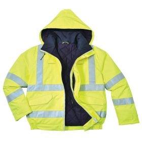 73c7109db Radians RW32 Unisex Reflective Rain Jacket, Ripstop — iWantWorkwear