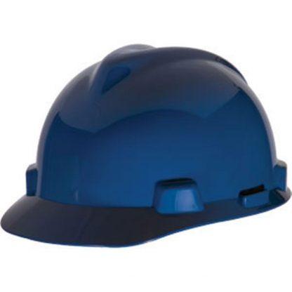 MSA V-Gard® Standard Slotted Cap w/ Staz-On® Suspension, Blue