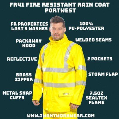 FR41 High Visibility Fire Resistant Jacket - Portwest,