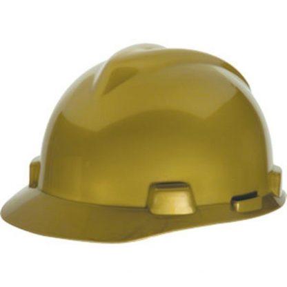 MSA V-Gard® Standard Slotted Cap w/ Staz-On® Suspension, Gold