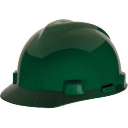 MSA V-Gard® Standard Slotted Cap w/ Staz-On® Suspension, Green