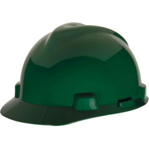 200a8c1b MSA V-gard Standard Slotted Cap-style Hard Hat w/ Fas-Trac III Suspension