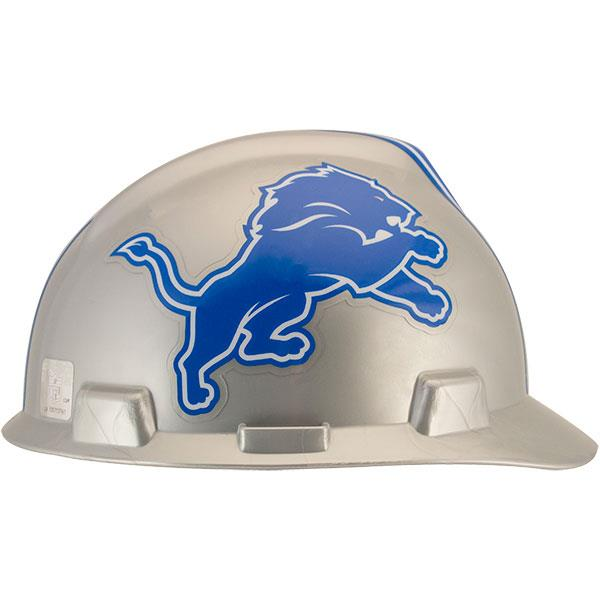 d135e305e MSA V-Gard Cap-style NFL Hard Hat are available in every NFL Team Logo. Even  the bad ones  like Detroit.