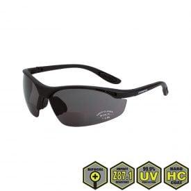 Radians Crossfire Talon Bifocal Safety Glasses, smoke, matte black