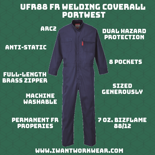 The UFR88 is made from Bizflame 88/12-- a blend of 88% cotton and 12% nylon. The high cotton content in the material allows the garment to remain soft and supple while the nylon provides strength and resistant to abrasion.