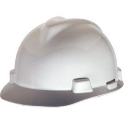 MSA V-Gard® Standard Slotted Cap w/ Staz-On® Suspension, White