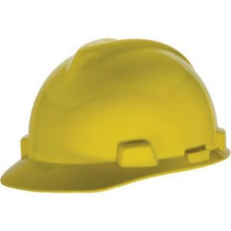 MSA V-Gard® Standard Slotted Cap w/ Staz-On® Suspension, Yellow