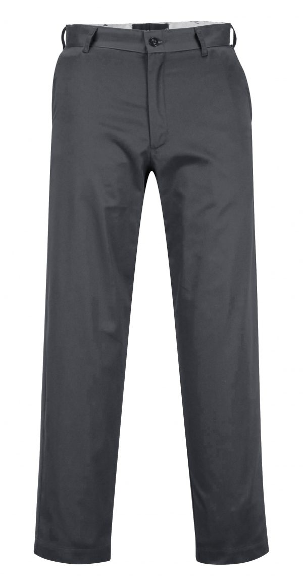 Portwest 2886 Industrial Work Pants, Charcoal Gray, Front
